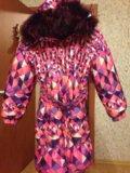 Пуховик зимний с капюшоном из натурального меха. Фото 1.