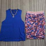 Новая юбка zara высокая талия. Фото 1.