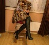 Новая жилетка из кусочков лисы. Фото 3.