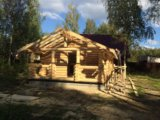 Дом из бревна. Фото 1.