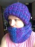Шапка шарф ( снуд). Фото 2.