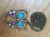 Сова кулон цепочка. Фото 1.