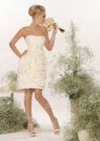 Короткое свадебное платье. Фото 1.