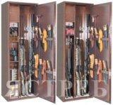 Металлический шкаф для хранения оружия ястреб-12. Фото 1.