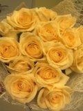 15 кремовых роз спб, 15 персиковых роз спб. Фото 2.