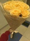 15 кремовых роз спб, 15 персиковых роз спб. Фото 3.