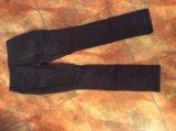 Черные хлопковые брюки р.46, б/у. Фото 3.