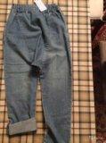 Новые летние джинсы гарем, на 146/152, для девочки. Фото 4.