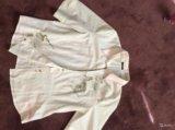 Блузка белая р.48-50, хлопок, новая. Фото 1.
