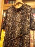Леопардовое платье р.50. Фото 2.