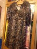Леопардовое платье р.50. Фото 3.