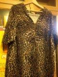 Леопардовое платье р.50. Фото 4.