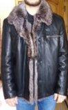 Куртка кожаная на меху. Фото 1.