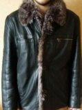 Куртка кожаная на меху. Фото 3.