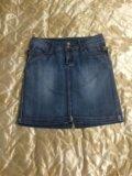 Юбка джинсовая р-р 48. Фото 1.