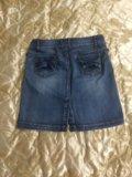Юбка джинсовая р-р 48. Фото 2.