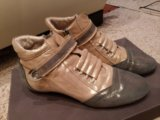 Кожаные ботиночки 38 размера. Фото 1.