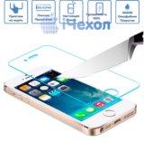 Защитное стекло для iphone 4/4s 5/5s. Фото 1.