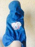 Дождевик для маленьких собак новый. Фото 1.