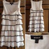 Белое платье- сарафан 50 лет октября, 49. Фото 1.