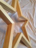 Звезда декоративная деревянная 70 см. 2 шт.. Фото 2.