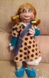 Текстильная кукла ручной работы. Фото 1.