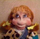 Текстильная кукла ручной работы. Фото 4.