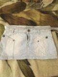 Джинсовая юбка короткая размер s. Фото 1.
