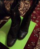 Сапоги кожаные. Фото 3.