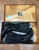 Зимние кожаные сапоги m.shues. Фото 1.