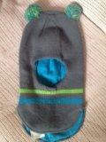 Шапка шлем для мальчика осень весна. Фото 1.