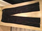 Брюки-джинсы puma, чёрные с молниями. Фото 3.