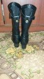Женские сапоги кожа. Фото 2.