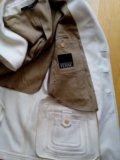 Пальто - пиджак gfferre мужское 52 белое шерсть. Фото 3.