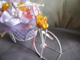 Велосипедик с цветами. Фото 2.