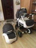 Детская коляска adamex 2 в 1. Фото 1.