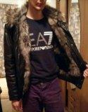 Куртка кожаная с мехом (натуралка). Фото 1.