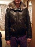 Куртка кожаная с мехом (натуралка). Фото 4.