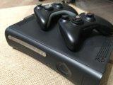 Xbox 360 120gb+(62 игры)+2 джойстика. Фото 1.
