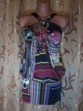 Сарафаны с цветочным принтом и пайетками. Фото 1.