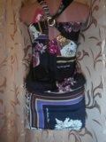 Сарафаны с цветочным принтом и пайетками. Фото 2.