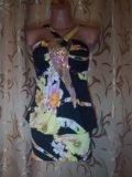 Сарафаны с цветочным принтом и пайетками. Фото 3.