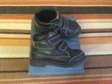 Мембранные демисезонные ботинки geox. Фото 1.
