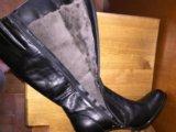 Сапоги зимние кожаные 39 р. Фото 3.