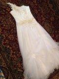 Свадебное платье 44-46р и шубка. Фото 1.
