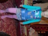Джинсовый комбез, юбка. Фото 1.