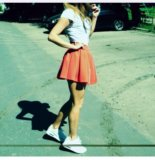 Красная юбка. Фото 1.
