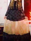 Шикарное кружевное длинное платье. Фото 2.