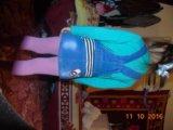 Джинсовый комбез, юбка. Фото 2.
