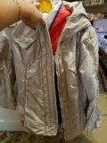 Куртка бежевая зимняя. Фото 1.